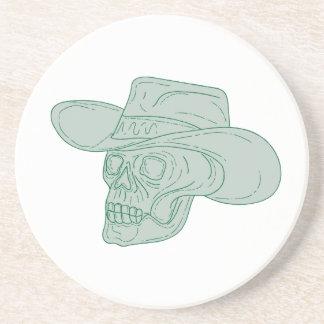 Cowboy Skull Drawing Coaster