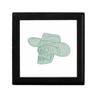 Cowboy Skull Drawing Gift Box