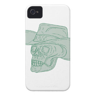 Cowboy Skull Drawing iPhone 4 Covers