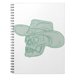 Cowboy Skull Drawing Notebooks