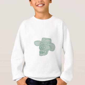 Cowboy Skull Drawing Sweatshirt