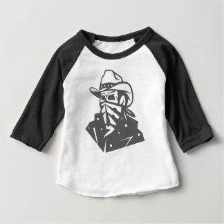 Cowboy Skull With Bandana And Hat Baby T-Shirt