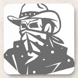Cowboy Skull With Bandana And Hat Coaster