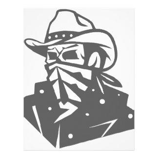 Cowboy Skull With Bandana And Hat Letterhead
