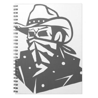 Cowboy Skull With Bandana And Hat Spiral Note Book