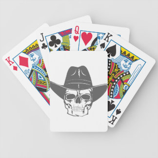 Cowboy Skull With Hat Bicycle Playing Cards