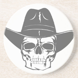 Cowboy Skull With Hat Coaster