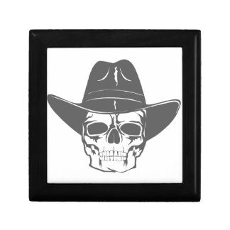 Cowboy Skull With Hat Gift Box