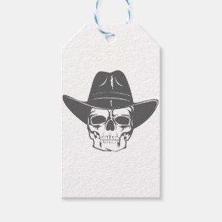 Cowboy Skull With Hat Gift Tags