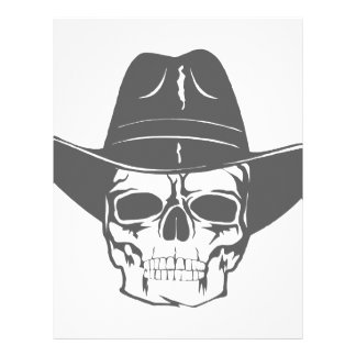 Cowboy Skull With Hat Letterhead