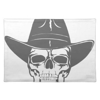 Cowboy Skull With Hat Placemat
