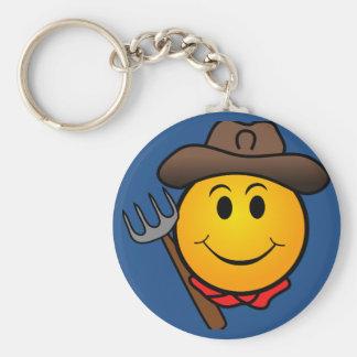 Cowboy Smiley Keychain