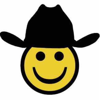 Cowboy Smiley Photo Sculpture Ornament