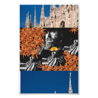 Cowboy Starfish Collage Photo Print