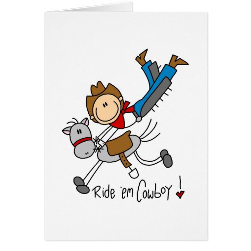 Cowboy Stick Figure Tshirts and Gifts Card
