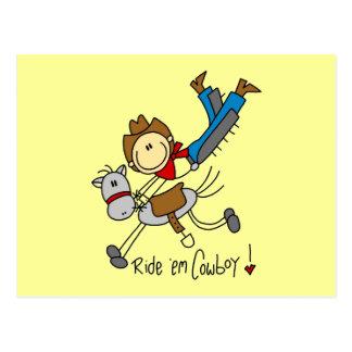 Cowboy Stick Figure Tshirts and Gifts Postcard