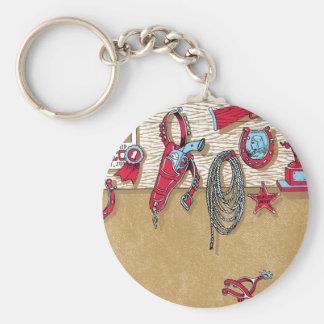 Cowboy Stuff Keychain