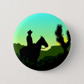 Cowboy T-shirts and Gifts. 2 Inch Round Button