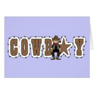 Cowboy Thanks - Western Friendship Card