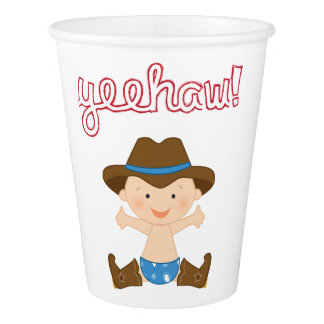 Cowboy Themed Party Cups- Birthday Paper Cup
