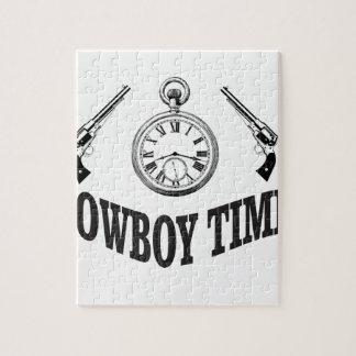 cowboy time logo jigsaw puzzle
