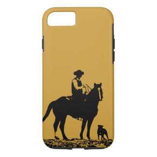 Cowboy Trio iPhone 7 case - Black and Gold
