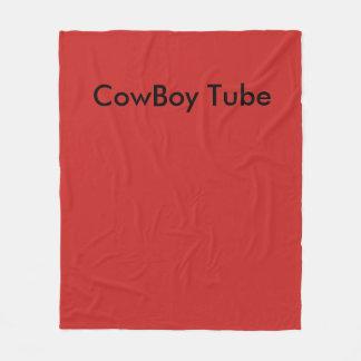 CowBoy Tube Blankes Fleece Blanket