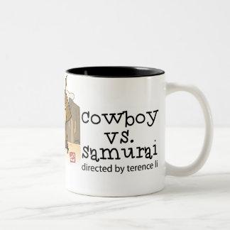 Cowboy vs. Samurai mug
