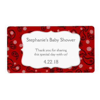 Cowboy Western Baby shower Water Bottle Favor Shipping Label