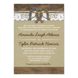 Cowboy Western Horseshoe Wedding Invitations