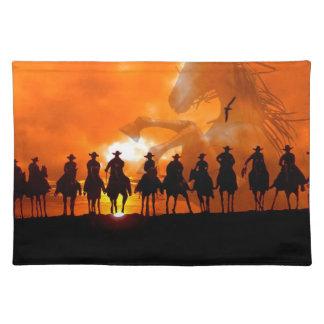 Cowboy Western Ranch American MoJo Placemat art