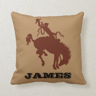 Cowboy Western Rodeo personalised name Throw Pillow