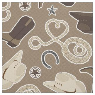 Cowboy Western Theme Fabric
