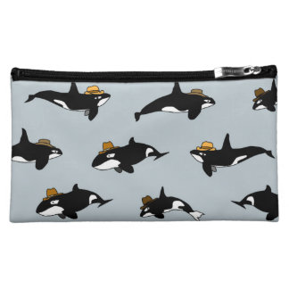 Cowboy Whales Cosmetics Bag