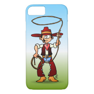 Cowboy with a lasso iPhone 7 case