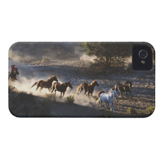 Cowboy with herd of horses Case-Mate iPhone 4 case