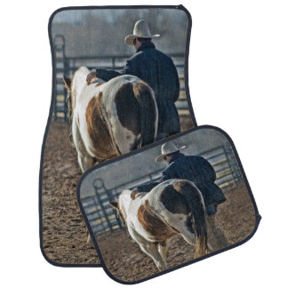 Cowboy with Horse Set of 4 Car Mats