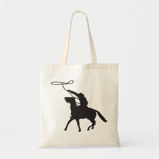 Cowboy with lasso tote bag