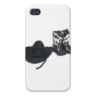 CowboyHatBoots092610 Covers For iPhone 4