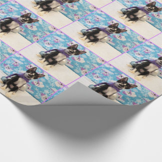 Cowboy's Christmas Dress Warm Wrapping Paper