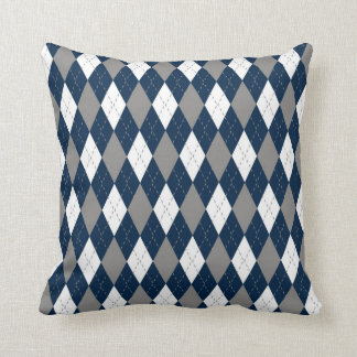 Cowboys Colors Argyle Pattern Throw Pillow