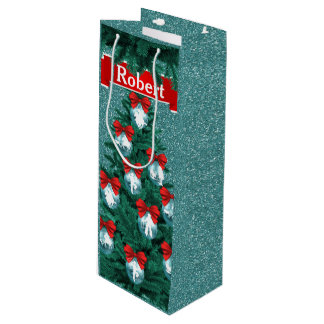 Cowboys Cowgirls Roping On Blue Holiday Gift Bag