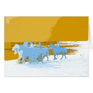 cowboys Gallop Into Life Card