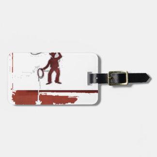 cowboys luggage tag