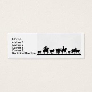 CowBoys Mini Business Card
