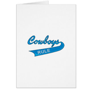 COWBOYS RULE CARD