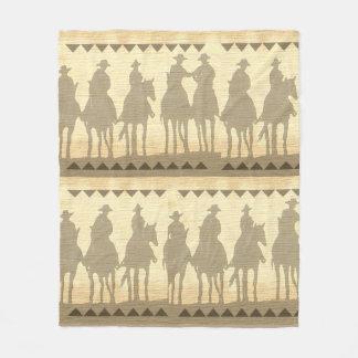 "Cowboys western roundup fleece Blanket 50""x60"""