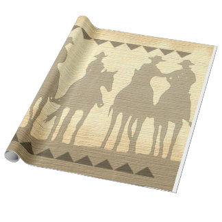 Cowboys western roundup southwest wrapping paper