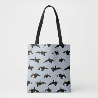 Cowboys Whales Tote Bag