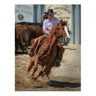 cowgir postcard
